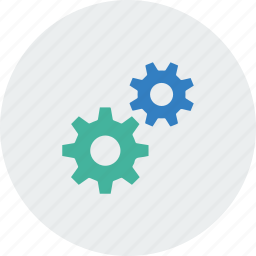action, cog, interaction, services icon