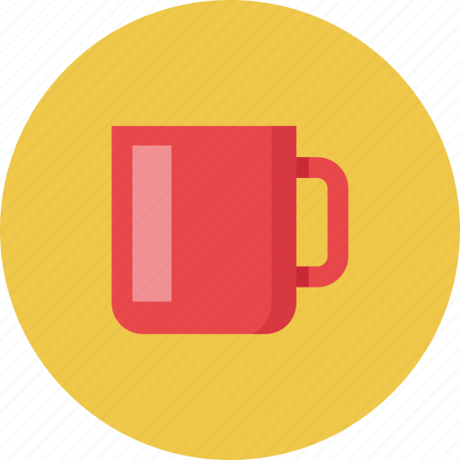 coffee, cup, friends, red icon