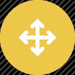 arrow, arrows, click, computer, cursor, design, hand icon