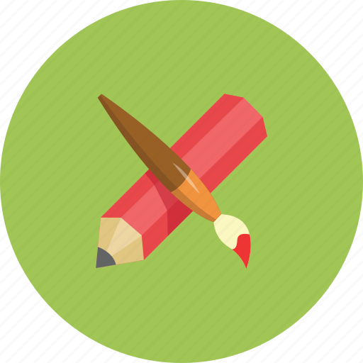 art, brushe, colours, design, drawing, illustration, pen icon