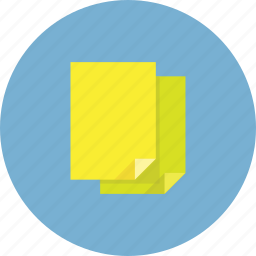 documets, files, green, paper, papers, yellow icon
