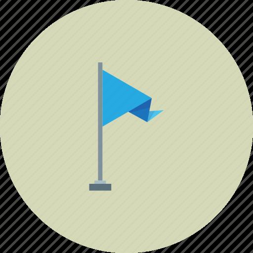 blue, flag, pin, street icon