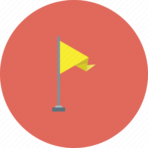 city, flag, pin, street, yellow icon