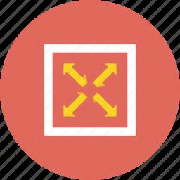 document, file, full, maximum icon