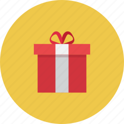 box, event, events, gift, happy, red icon