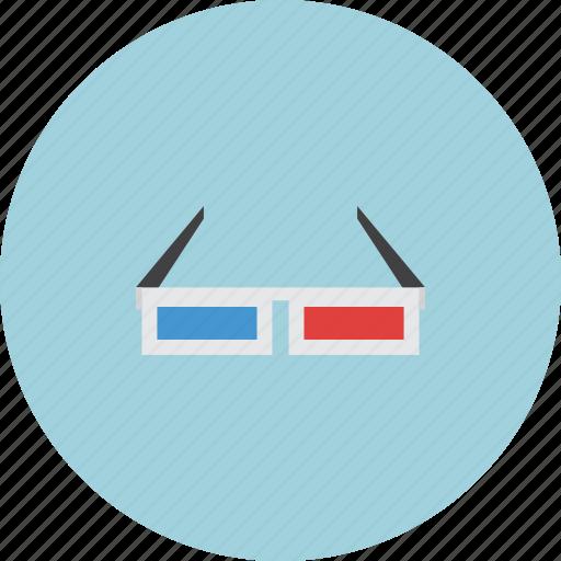 cinema, film, glasses, movies icon