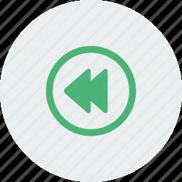 arrow, arrows, left, media icon
