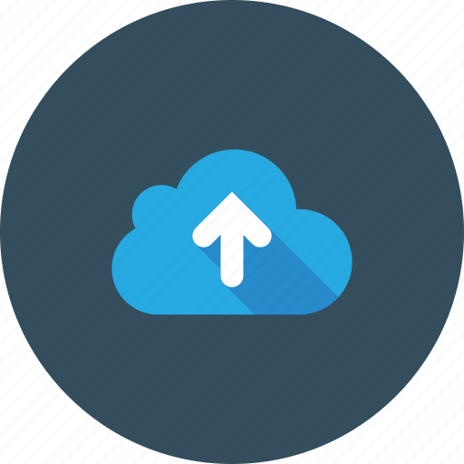 blue, cloud, cloudy, loading, sky, top, up icon