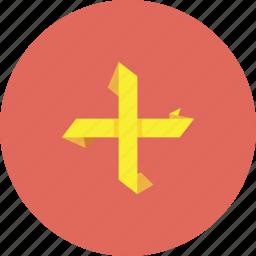 add, advantages, options, plus, yellow icon