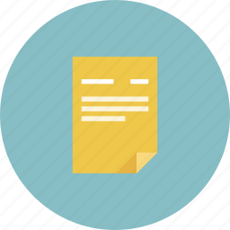 file, nots, paper, papers, paragraph, text, title icon