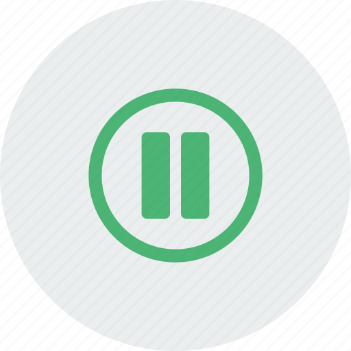 file, green, media, pause, sounds, video icon