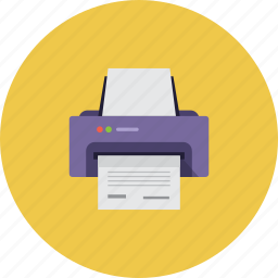 document, file, page, paper, papers, print, printer icon