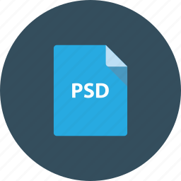 document, download, extension, file, photoshop, psd icon