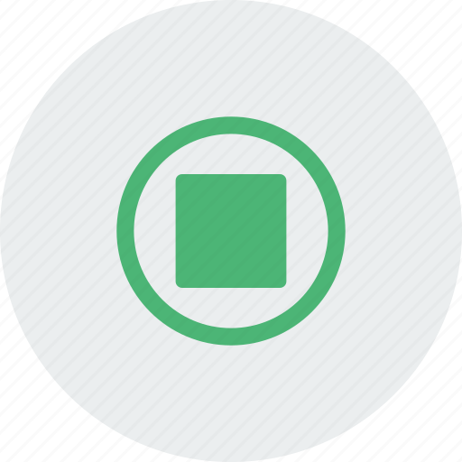file, green, media, movie, sound, stop icon