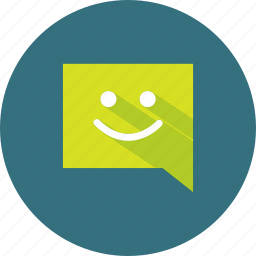 chat, friends, happy, network social, talk icon