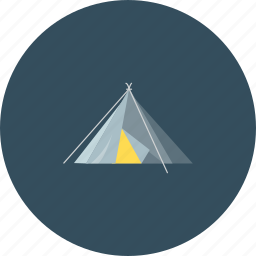 camp, camping, canopy, friends, happy, mountain, tent icon