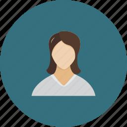 face, female, login, people, profile, user, women icon