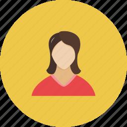 female, girl, human, lady, login, people, user icon