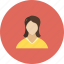 female, girl, human, lady, login, people, user icon