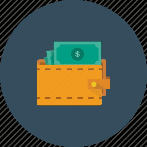 dollar, money, shopping, wallet icon