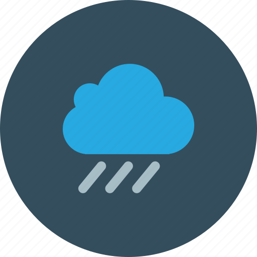 blue, cloud, day, rain, sky, sun, weather icon