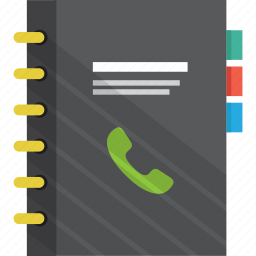 book, contacts, cover, document, file, informations, list icon