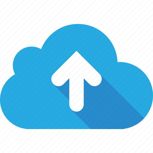 arrow, arrows, blue, clouds, cloudy, loading, top, up icon