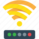 connexion, green, home, internet, off, office, on, red, wifi, yellow icon