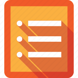analytics, audit, checklist, li, list, needs, orange, ul icon