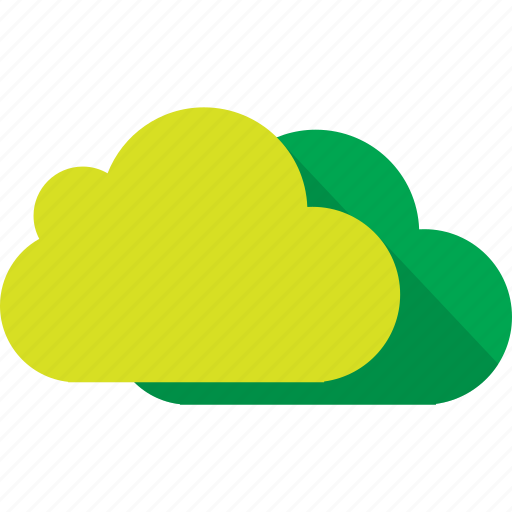 cloud, clouds, cloudy, green, nature, yellow icon