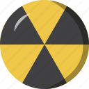 burn, nuclear, radioactive, yellow icon