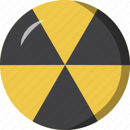 burn, nuclear, radioactive, yellow icon