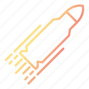 ammunition, bullet, performance, speed, weapon icon
