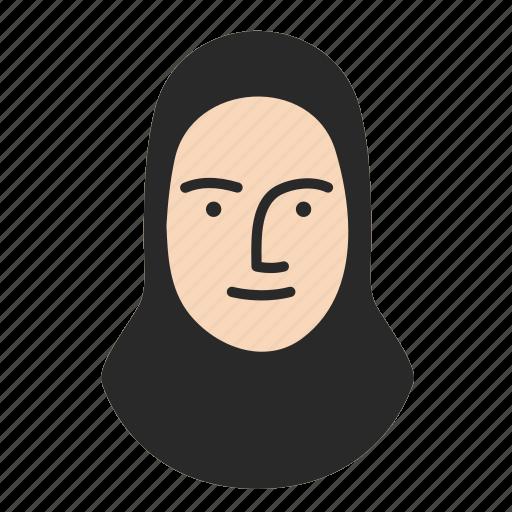 face, human, islamic, person, persona, user, woman icon