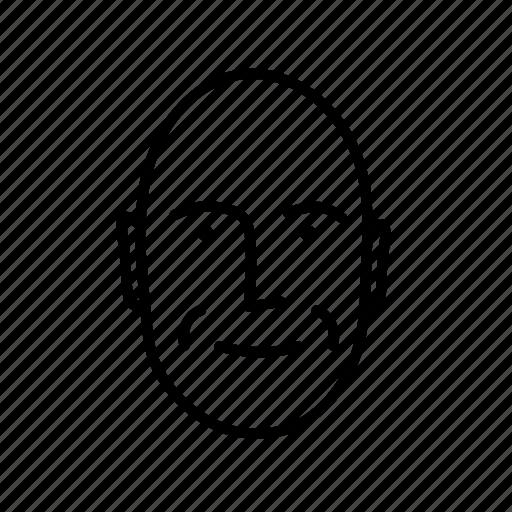 black man, bold, face, person, persona, user icon