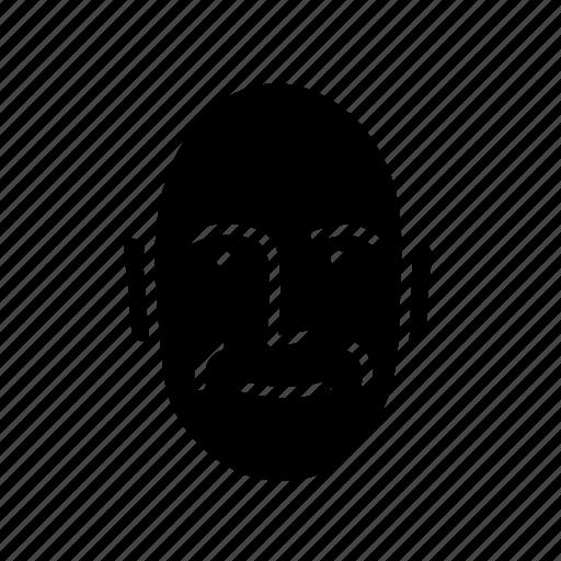 bold, face, man, person, persona, user icon