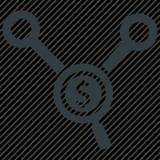 business, financial analysis, graph analysis, market analysis, research icon
