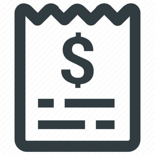bill, invoice, payment, purchase, receipt icon