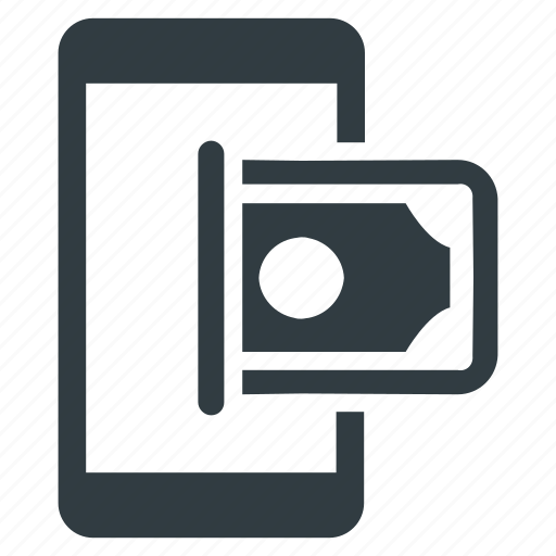 cash, mobile, money, payment, transaction icon