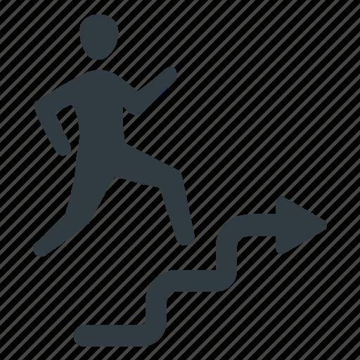 business success, corporate ladder, profit, progress, promotion icon