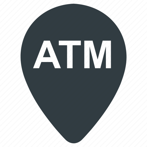 atm location, atm map, atm marker, atm pin icon