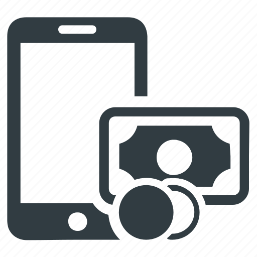 cash, mobile, mobile banking, money, payment icon