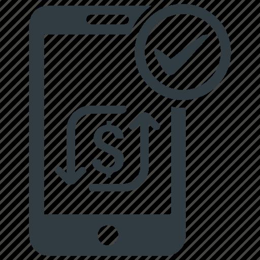 m commerce, mobile commerce, mobile transaction, online money, online transaction icon