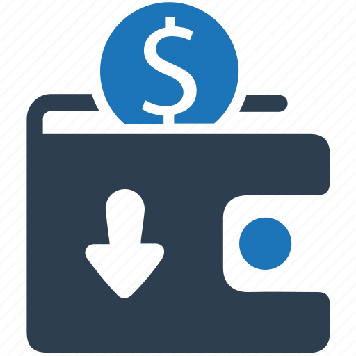 cash, cash in, coin, digital wallet, money in, wallet icon