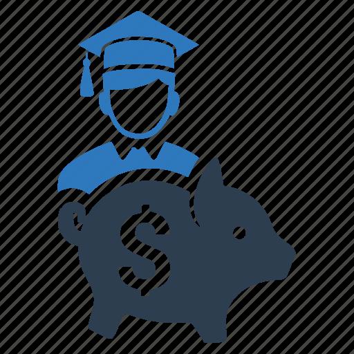 budget, college savings, education, guardar, money, save icon