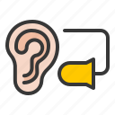 ear protection, earplugs, equipment, protection, protective, safety icon