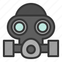 equipment, gas mask, protection, protective, safety icon