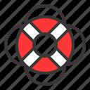 equipment, lifesaver, protection, protective, safety, swim ring, swim tube icon
