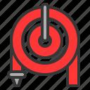 equipment, fire hose, hose, protective, tool icon