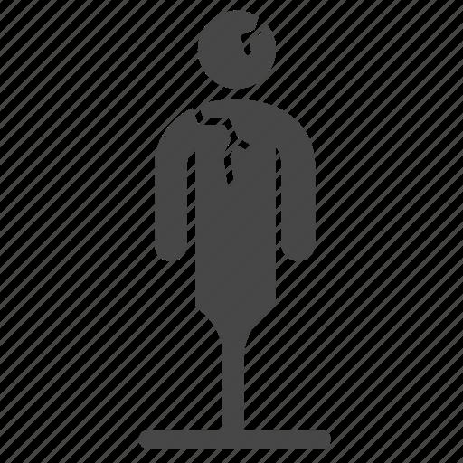 bad, broken, character, fragile, habit, personality icon